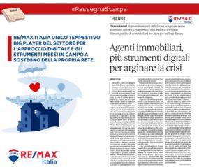 Il sole 24 Ore indica il Gruppo RE/MAX come esempio di emancipazione digitale nel settore immobiliare