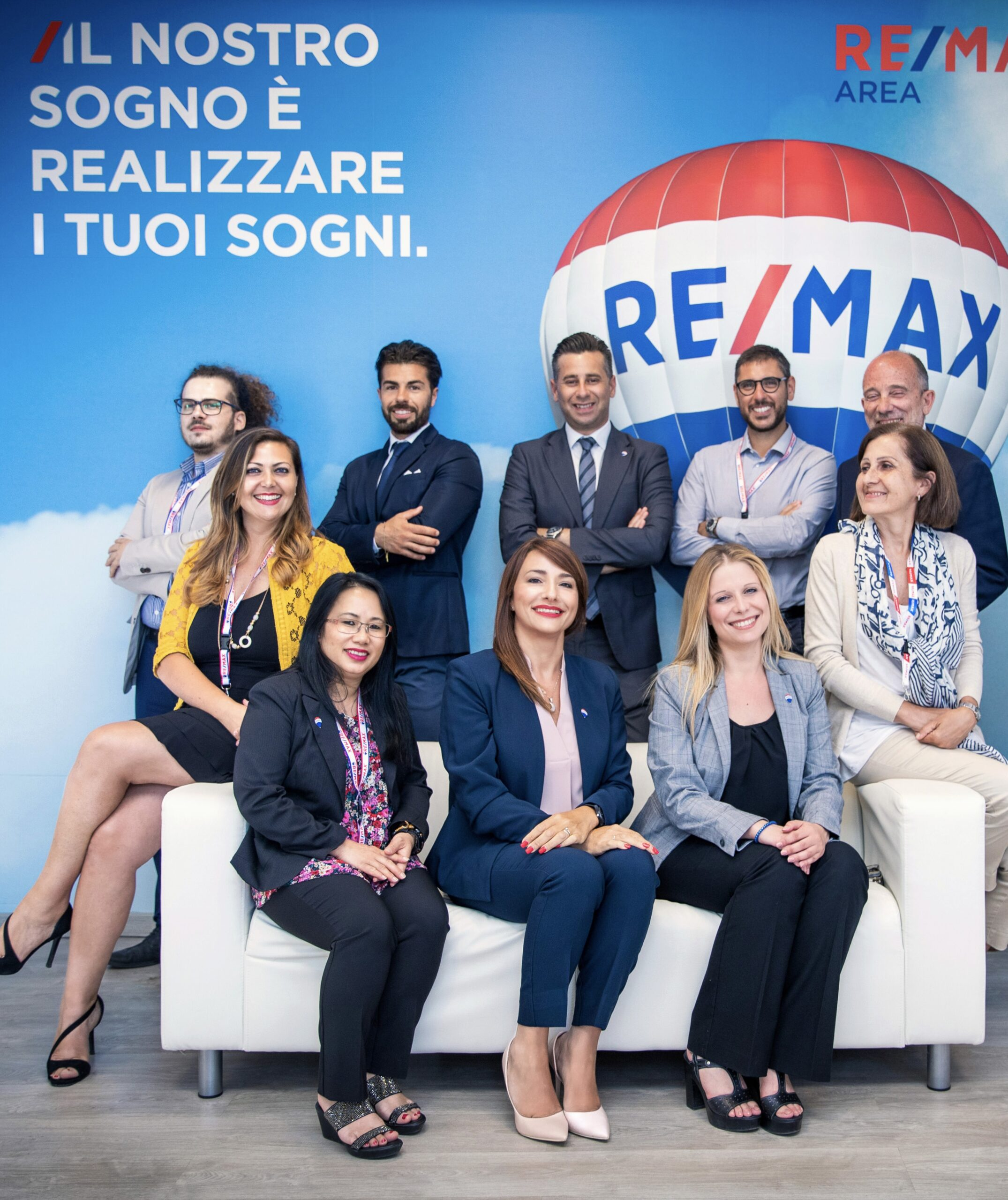 Lo staff dell'agenzia immobiliare ReMax Area di Roma